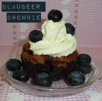 Blaubeer Brownie by SweetySara