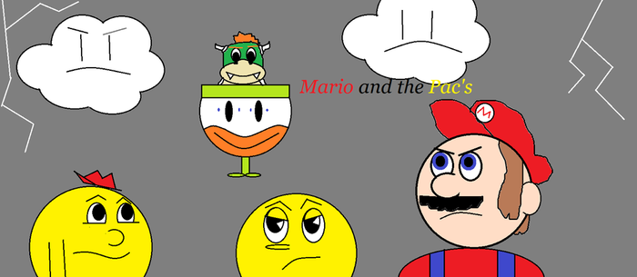 Mario and the Pac's comic cover by PacandPinky101