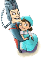Uncle Gaston and Aunt Billie by student-yuuto