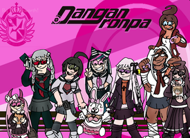 Danganronpa Girls by Duckyworth