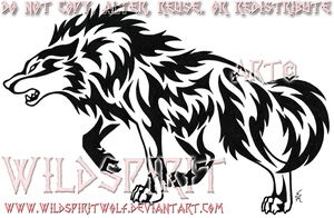 Aggressive Wolf Tribal Set by WildSpiritWolf