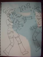 Vocaloid Len and Rin: Daisuki Aniki! Uncoloured by NikkiandMay