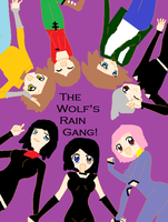 Raven and wolf's rain gang by poisonraven5