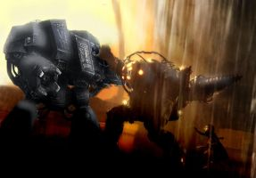 Dreadnought Versus Big Daddy by NonsenseGhost