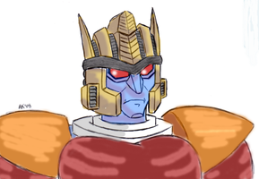 BW - Dinobot - colored by AosakiKeiko