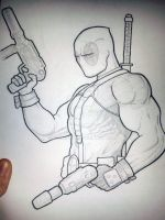 Deadpool Sketch 01 by pagandevil