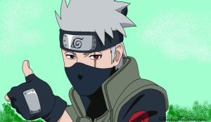 Kakashi thumbs up by ShesheTheDiclonius