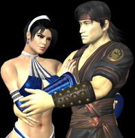 Kitana and Liu Kang II by artemismoonguardian