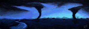 Tornados - Speed Paint by cometa93