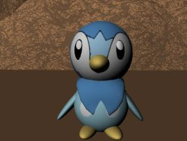 3D Piplup 2 by AnimeGal2010