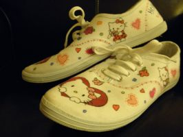 Hello Kitty Shoes by MaryGracee