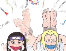 Tsunade and Kin's Feet Tickle by Sasori711