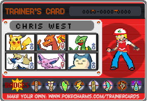My New Pokemon Trainer Card by senordunut