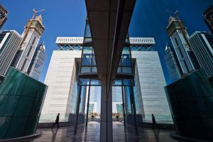 Dubai DIFC Reflection by Thameralhassan