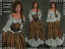 Tavern Wench Outfit -BROWN- by Elvina-Ewing