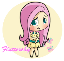 Fluttershy Human by benderadopts