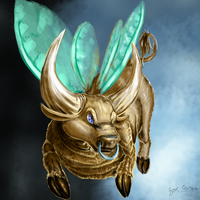 Quasi-Realistic Tinkerbull by EternalDragoness
