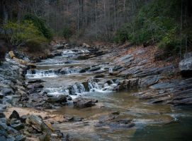 Toccoa Falls: stream by Natures-Studio