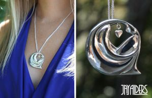 Depression of Love - Silver Pendant Necklace by jayalders