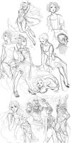 sketch dump . september by kiikii-sempai