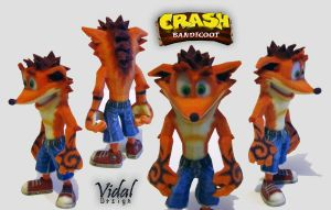 Crash Bandicoot - 3D printed ! by Vidal-Design