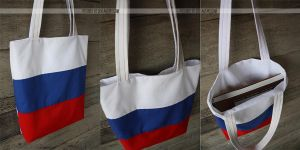 russia flag bag by resubee