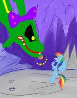 Rainbow Dash Angers a Rayquaza by Cartoon-Eric