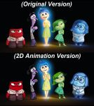 Pixar 2D Animation Style Comparison Inside Out by PrincessKatieForever