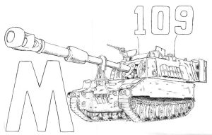 M 109 self propelled Howitzer by BROKENHILL