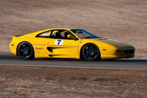 Ferrari at Thunderhill by SharkHarrington