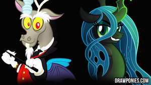 Pure Evil (Desktop Background) by drawponies