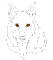 Free German Shepherd Lineart by faery-dustgirl