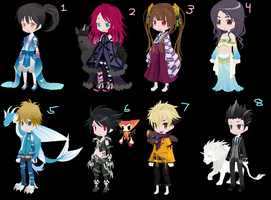 Dream Selfy Adopts, Batch 4 by Moonylover12
