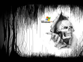 skull windows xp by Paullus23