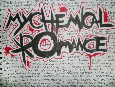 sketch-a-day 5: my chemical romance by poisonrose425