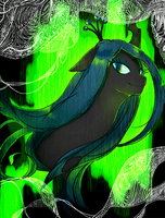 Queen Chrysalis by volvolvox