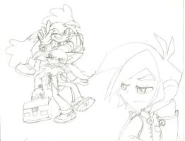 Tomo Guntz and Klonoa by peridive78