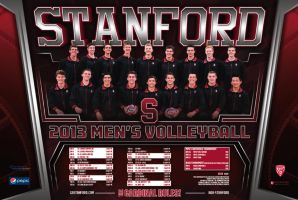 Stanford volleyball poster by Satansgoalie