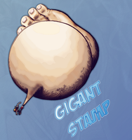 Rufy  -  Gigant Stamp by Zoro88