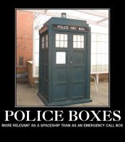 Police box demotivational poster by adscomics