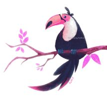 Toucan - Lunchtime sketch by Katikut