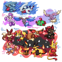 PKMNation :: -mostly- Fluffy clutches -ONE LEFT- by FENNEKlNS