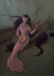 Mermaid Musician by LittleGreyDragon