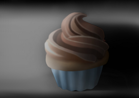 a cupcake in the darkness by TheGentlemanCupcake