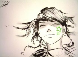 2008-04 Girl with stars tattoo by coued
