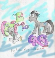 my little pony invaders by MaEmon-knows
