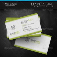 White and Lime Business Card by artnook