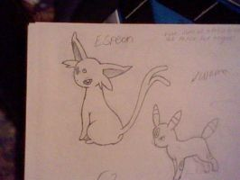 Espeon Sketch by UltimaCreations