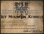 Icy Mountain Kennels DPCH License by North-Front