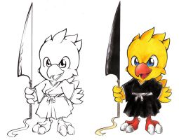 Chocobo Shinigami by tails-miya